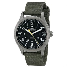 Timex T49961 Quick Date Feature Expedition Scout Watch with Green Nylon Strap