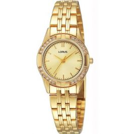 Lorus RRS92TX9 Ladies Dress Wrist Watch Gold Plated Stone Set Analogue Dial New