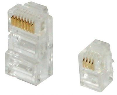 AV:Link 779.220 4P4C BUS26 Modular RJ10 USA Telephone Line Plug Plastic  - White