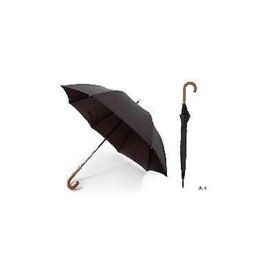 Ks Brands Uu0101 Quality Pongee Mens Walking Umbrella With Wooden Crook Handle