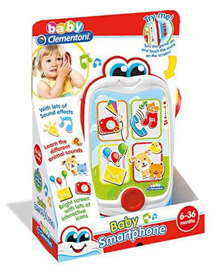Clementoni 14948 4 Big Bright Buttons Baby Fun Electronic Talking  Smartphone Toy