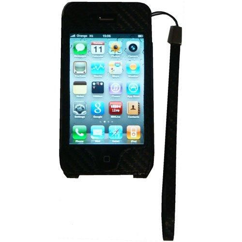 Groov-e Leather Carry Case iPhone 4 4S Screen Protector Cleaning Cloth Black New