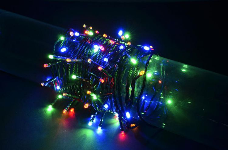 Fluxia 155.505 Battery Operated Multi Colour 80 LED String Lights 8m Length New Etwist