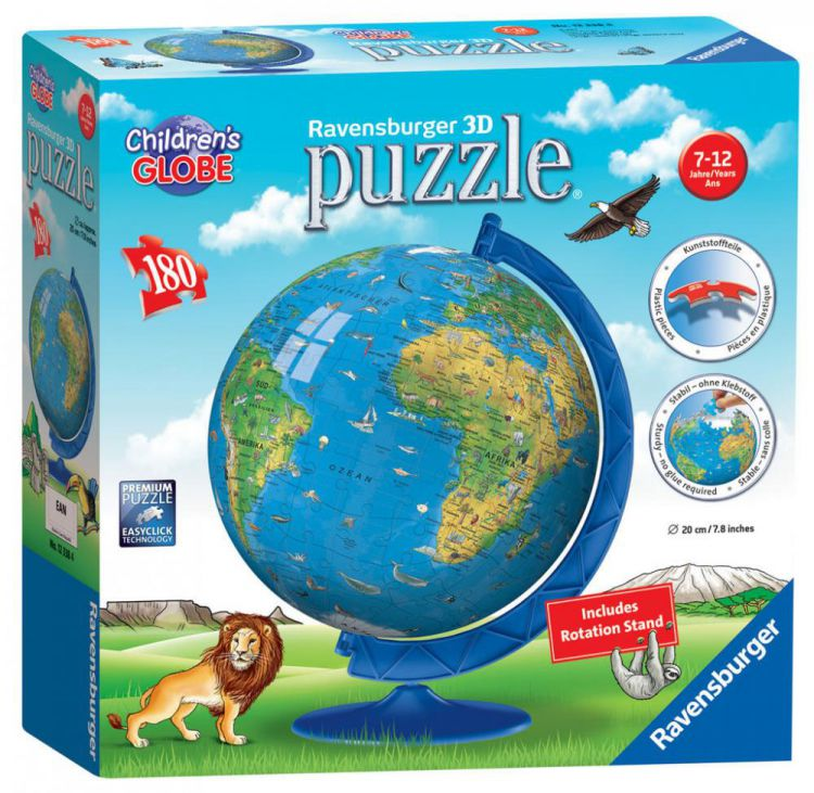 Ravensburger 12338 childrens age 7 world map 3d puzzle 180pc ravensburger 12338 childrens age 7 world map 3d puzzle 180pc jigsaw puzzle gumiabroncs Image collections