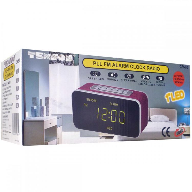 texson 5080 pll fm radio alarm clock led display battery. Black Bedroom Furniture Sets. Home Design Ideas