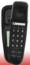 TEL-UK Bilbao 18008 Corded Home Phone Wall Mountable 3 Number Memory Black New